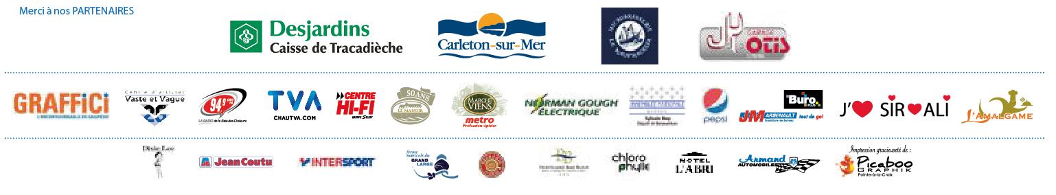 logos partenaires Régates Écovoile 2015